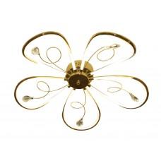 Потолочный светодиодный светильник LC576/5 GD золото 65W 4200K 620*620*110 (Без ПДУ)