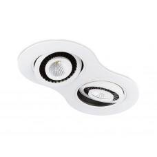 Встраиваемый поворотный светодиодный светильник S505/2 W белый 5+5W