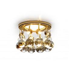 Встраиваемый точечный светильник K2051C KF/G золото/тонированный хрусталь MR16
