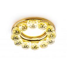 Встраиваемый точечный светильник K203 CL/G золото/прозрачный