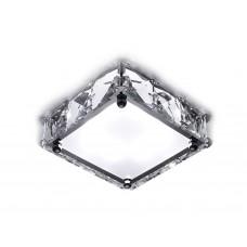 Встраиваемый потолочный светодиодный светильник S50 CH/W 4W хром/матовый 4200K LED