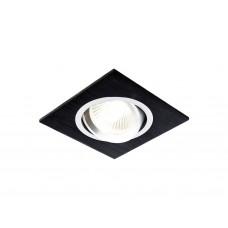 Встраиваемый поворотный светильник A601 BK сатин/черный MR16