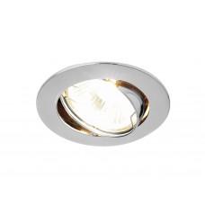 Встраиваемый поворотный светильник 104S CH хром MR16