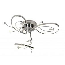 Потолочный светодиодный светильник LC560/3 CH хром 36W 4200K 650*650*160 (Без ПДУ)