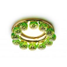 Встраиваемый точечный светильник K203 GR/G золото зеленый