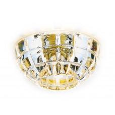 Встраиваемый точечный светильник D4180 Big CL/G золото/прозрачный G9