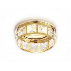 Встраиваемый точечный светильник K101 CL/G золото/прозрачный хрусталь