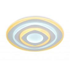Потолочный светодиодный светильник с пультом FA788 WH белый 92W D500*60 (ПДУ РАДИО 2.4)