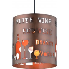 Подвесной светильник Arte Lamp A1223SP-1BR коричневый