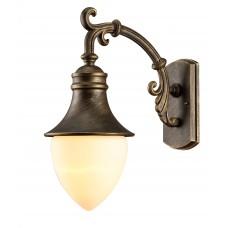 Бра уличное Arte Lamp A1317AL-1BN черно-золотой