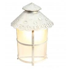 Уличный настенный светильник Arte Lamp A1461AL-1WG бело-золотой