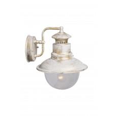 Бра уличное Arte Lamp A1523AL-1WG бело-золотой