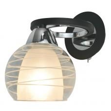 Бра с выключателем Arte Lamp A1604AP-1BK черный