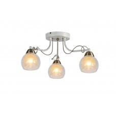 Потолочная люстра Arte Lamp A1633PL-3WG бело-золотой
