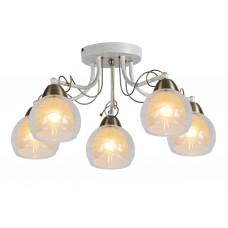 Потолочная люстра Arte Lamp A1633PL-5WG бело-золотой