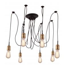 Люстра лофт Arte Lamp A4290SP-7BK черный