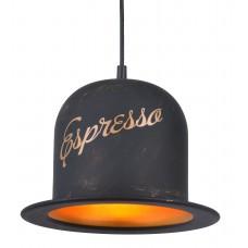Люстра лофт Arte Lamp A5064SP-1BN черно-золотой