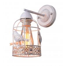 Бра с выключателем Arte Lamp A5090AP-1WG бело-золотой