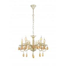Подвесная люстра Arte Lamp A5676LM-5WG бело-золотой