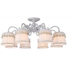 Потолочная люстра Arte Lamp A5709PL-8WG бело-золотой
