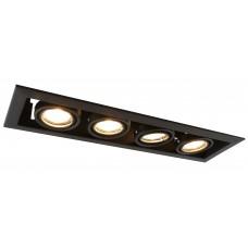 """Встраиваемый светильник """"кардан"""" Arte Lamp A5941PL-4BK черный"""