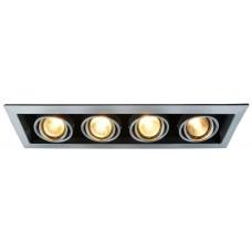 """Встраиваемый светильник """"кардан"""" Arte Lamp A5941PL-4SI Cardani"""