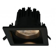 """Встраиваемый светильник """"кардан"""" Arte Lamp A7018PL-1BK черный 18 Вт 3000K"""