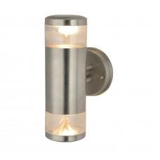 Уличный настенный светильник Arte Lamp A8161AL-2SS матовое серебро