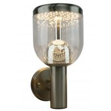 Уличный настенный светодиодный светильник Arte Lamp A8163AL-1SS матовое серебро 7 Вт 3000K