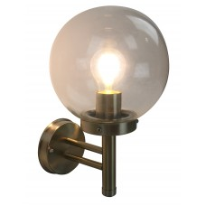 Бра уличное Arte Lamp A8365AL-1SS матовое серебро