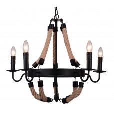 Люстра лофт Arte Lamp A8956LM-5BK черный