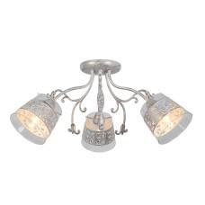 Потолочная люстра Arte Lamp A9081PL-3WG бело-золотой