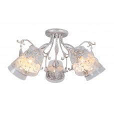 Потолочная люстра Arte Lamp A9081PL-5WG бело-золотой