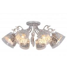Потолочная люстра Arte Lamp A9081PL-8WG бело-золотой
