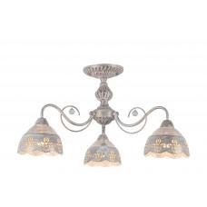 Потолочная люстра Arte Lamp A9106PL-3WG бело-золотой