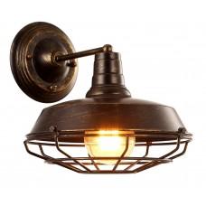Бра в стиле Лофт Arte Lamp A9183AP-1BR коричневый
