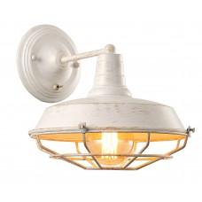 Бра лофт Arte Lamp A9183AP-1WG бело-золотой