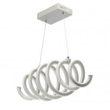 Подвесная светодиодная люстра DeMarkt 496018401 Аурих 60 Вт 3000К серебро