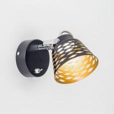 Спот светодиодный с выключателем Citilux CL508512 Орегон 5 Вт 3000K Черный + Золото