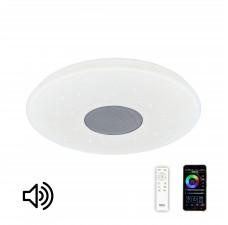 Люстра музыкальная с Bluetooth и пультом Citilux Light & Music CL703M50 Белый / Хром 50 Вт (без картинки на плафоне)