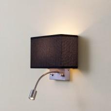 Бра с выключателем и лампой для чтения 3Вт 3000K Citilux CL704301 Декарт Хром Матовый