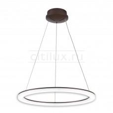 Подвесная светодиодная люстра с пультом Citilux CL71065RS Электрон 64 Вт 3000-4200K Венге