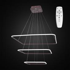 Подвесная светодиодная люстра с пультом Citilux CL731K115 Неон 110 Вт 3000-4200K Коричневый
