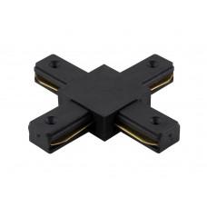 Соединитель X-образный (однофазный) Crystal Lux CLT 0.211 04 BL Черный