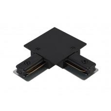 Соединитель L-образный (однофазный) для встраиваемого шинопровода Crystal Lux CLT 0.2211 03 BL Черный