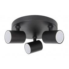 Светильник потолочный Crystal Lux CLT 017W3 D230 BL GU10 3*50W Черный
