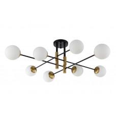 Люстра потолочная Crystal Lux FIDEL PL8 BLACK E27 8*60W Черный/Бронза