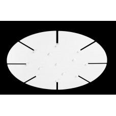 Потолочная база Crystal Lux D600-8 WHITE Белый