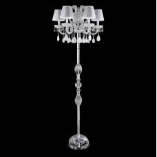 Торшер Crystal Lux BLANCA PT5 хром/белый/прозрачный