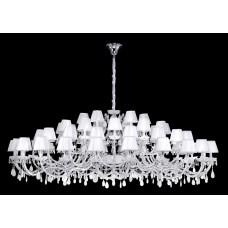 Подвесная люстра Crystal Lux BLANCA SP60 хром/белый/прозрачный